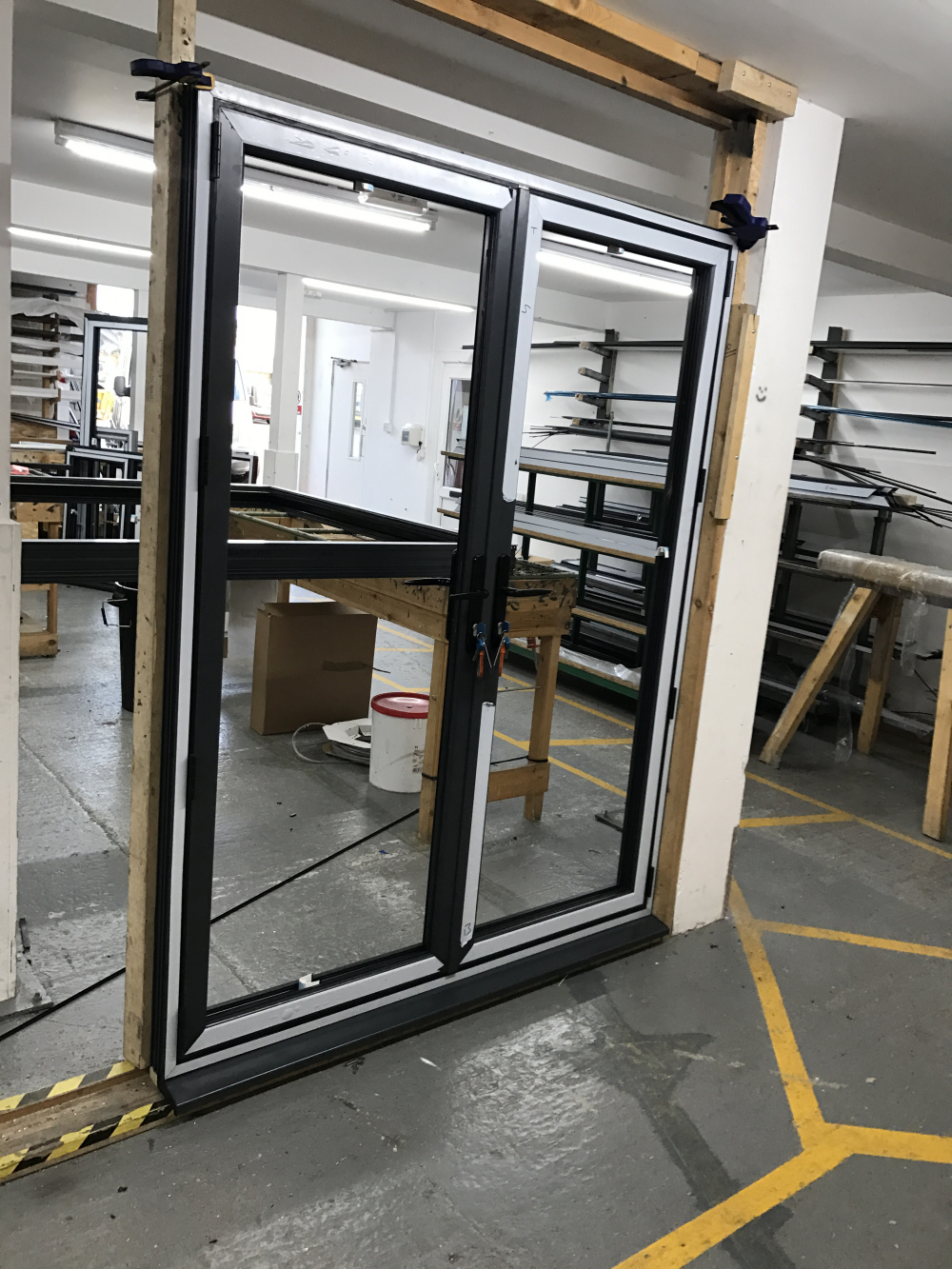 French Doors Undergoing Quality Control.