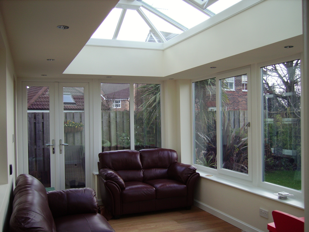 Orangery Internal View With Recessed Lights.