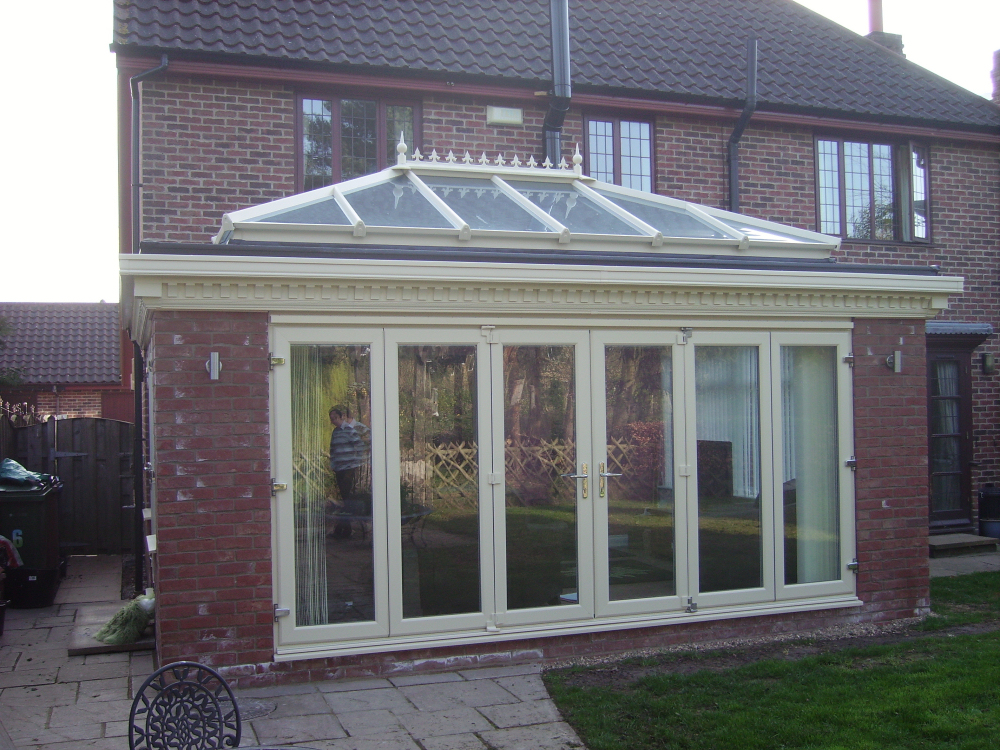 Ornate Orangery Finished In Cream.